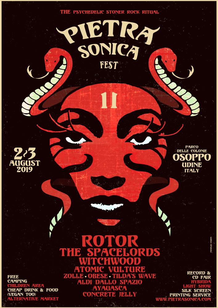 Il poster ufficiale di Pietra Sonica Fest 2019